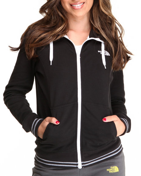 The North Face Black Logo Stretch Full Zip Hoodie