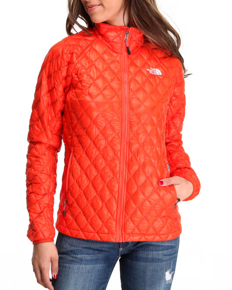 The North Face Orange Thermoball Full Zip Jacket
