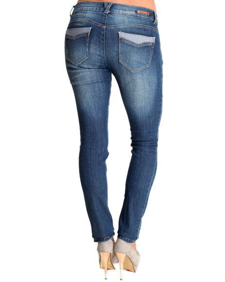 JOLT Medium Wash Distressed Skinny Jean