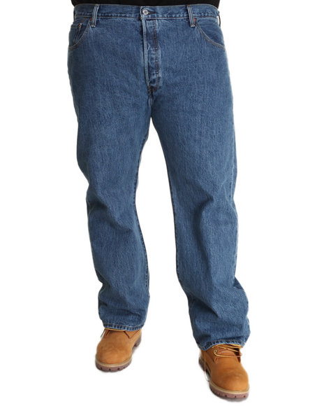 Levi's Medium Wash 501 Straight Fit Medium Stonewash Jeans (Big & Tall)