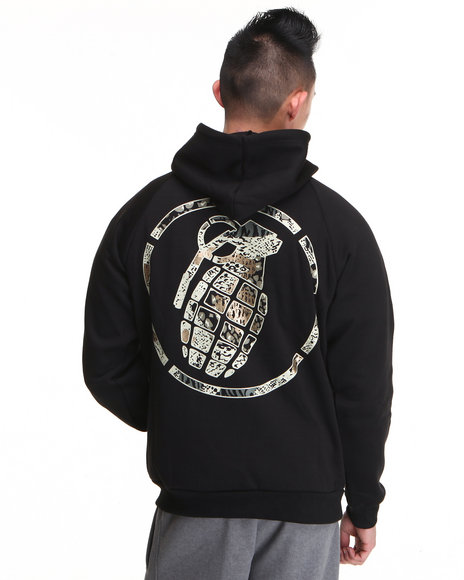 Grenade - Men Black,Black Battle Camo Hoodie