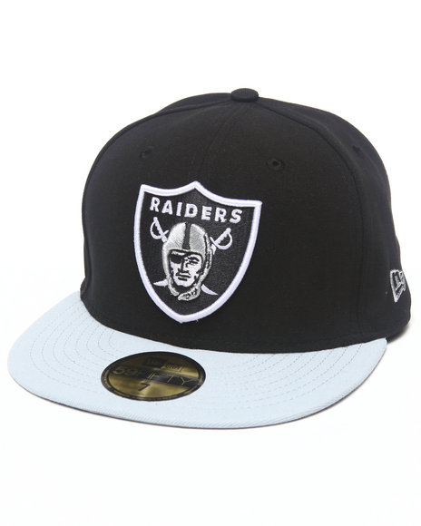 New Era - Men Black Oakland Raiders Nfl 2013 Black Crown Team 5950 Fitted Hat - $16.99