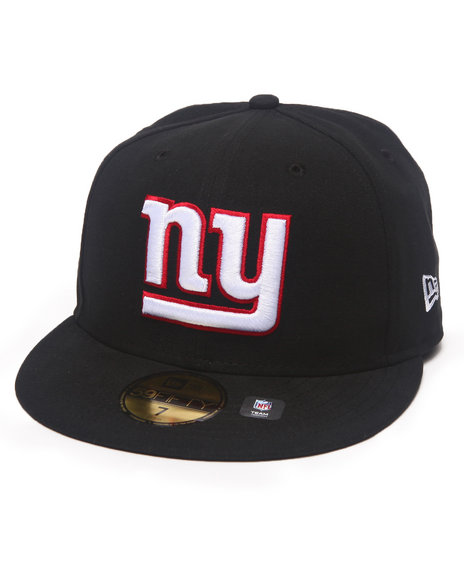 New Era - Men Black New York Giants Nfl 2013 Black Crown Team 5950 Fitted Hat