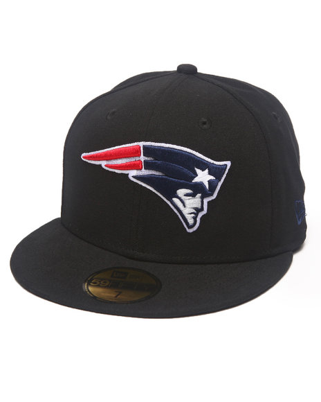 New Era - Men Black New England Patriots Nfl 2013 Black Crown Team 5950 Fitted Hat