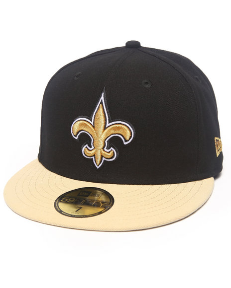 New Era - Men Black New Orleans Saints Nfl 2013 Black Crown Team 5950 Fitted Hat