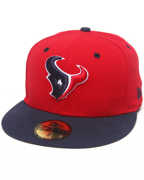 New Era - Men Red Houston Texans Nfl Two Tone 5950 Fitted Hat