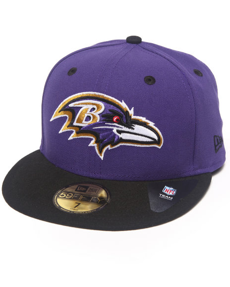 New Era - Men Purple Baltimore Ravens Nfl Two Tone 5950 Fitted Hat