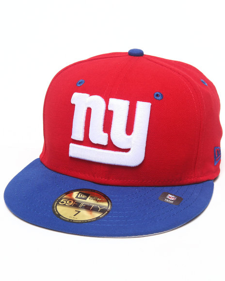 New Era - Men Red New York Giants Nfl Two Tone 5950 Fitted Hat