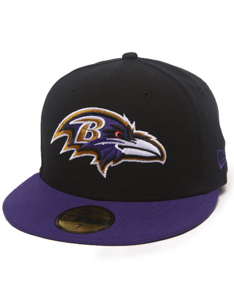New Era - Men Black Baltimore Ravens Nfl 2013 Black Crown Team 5950 Fitted Hat