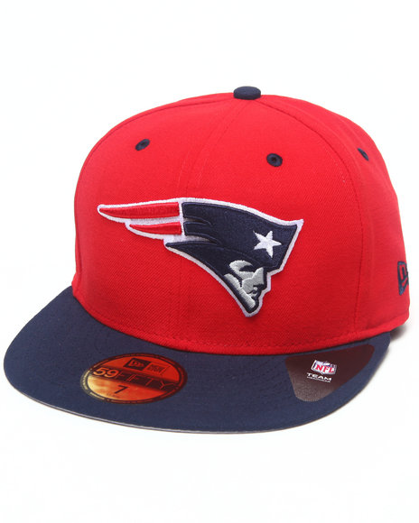 New Era - Men Red New England Patriots Nfl Two Tone 5950 Fitted Hat