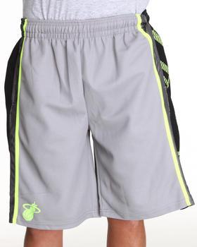 NBA, MLB, NFL Gear - Miami Heat HL Side Panel Grey Shorts