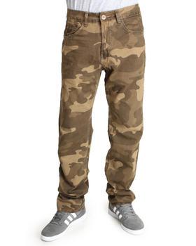 Basic Essentials - Slim Straight Camo Pants
