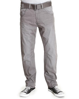 Basic Essentials - Premium Wash Pants with Belt