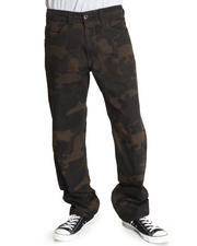 Men - Slim Straight Camo Pants