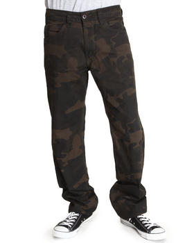 Basic Essentials - Slim Straight Camo Pants