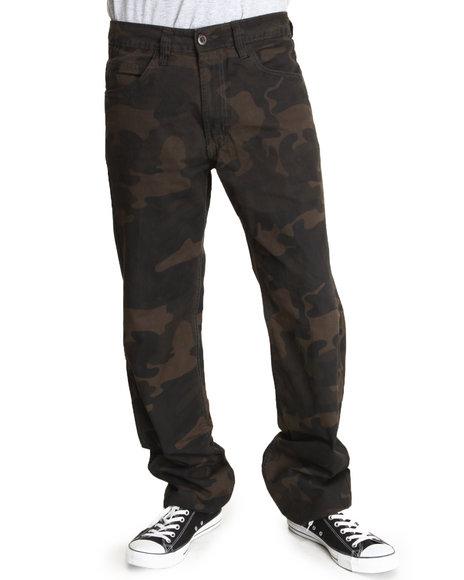 Basic Essentials Camo Slim Straight Camo Pants