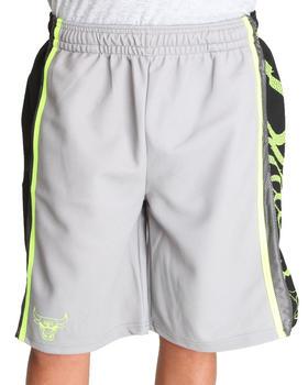 NBA, MLB, NFL Gear - Chicago Bulls HL Side Panel Grey Shorts