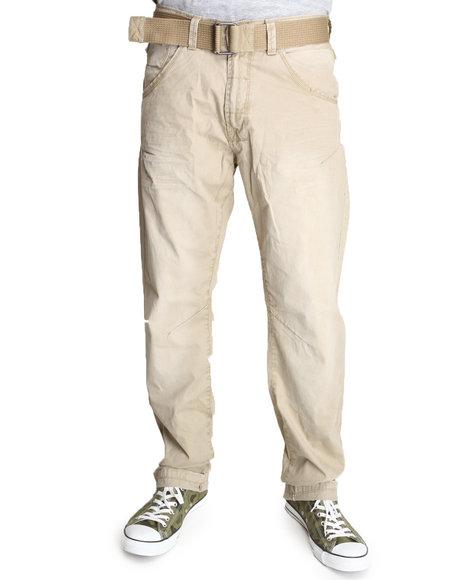 Basic Essentials Men Premium Wash Pants With Belt Khaki 42x32