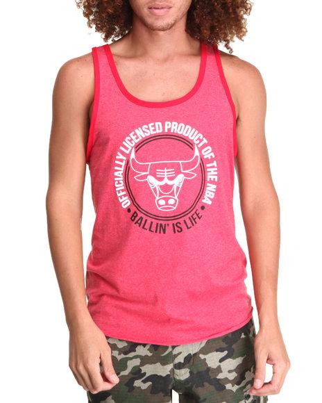 Nba, Mlb, Nfl Gear - Men Red Chicago Bulls Old School Tank Top (Drjays.Com Exclusive)