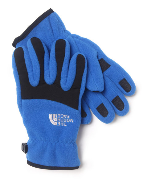 The North Face Boys Blue Denali Gloves