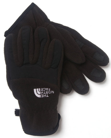 The North Face Boys Black Denali Gloves