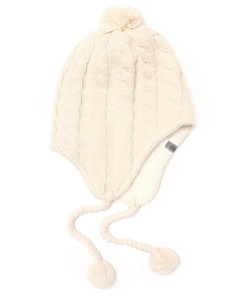 The North Face Fuzzy Earflap Beanie Off White
