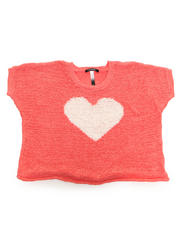 Sizes 7-16 - Big Kids - OVERSIZED HEART SWEATER (7-16)