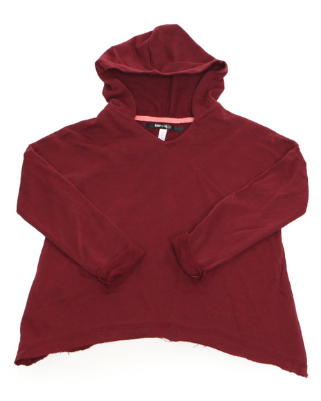 Kensie Girl Girls Maroon,Red Hoodie Sweater Top (7-16)