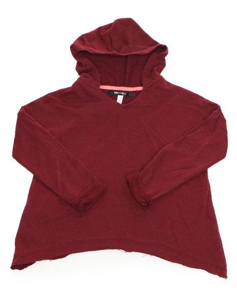 Kensie Girl Girls Maroon,Red Hoodie Sweater Top (7-16)