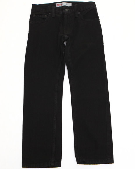 Levi's - Boys Black 511 Overdyed Black Skinny Jeans (8-20)
