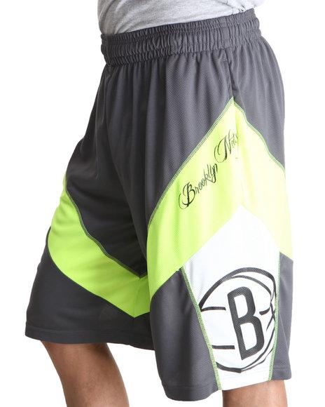 NBA, MLB, NFL Gear Yellow Brooklyn Nets Highlight Shorts