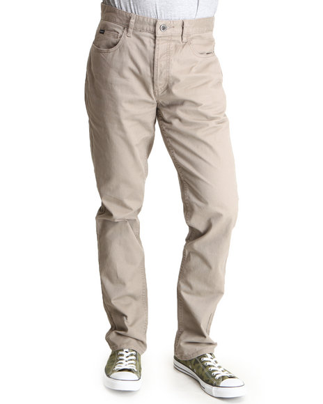 Rvca - Men Khaki Stay Rvca Slim Straight Fit Pants
