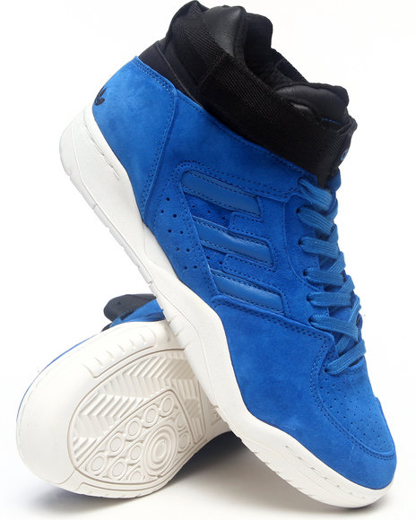 Adidas - Men Blue Suede Enforcer Mid Sneakers