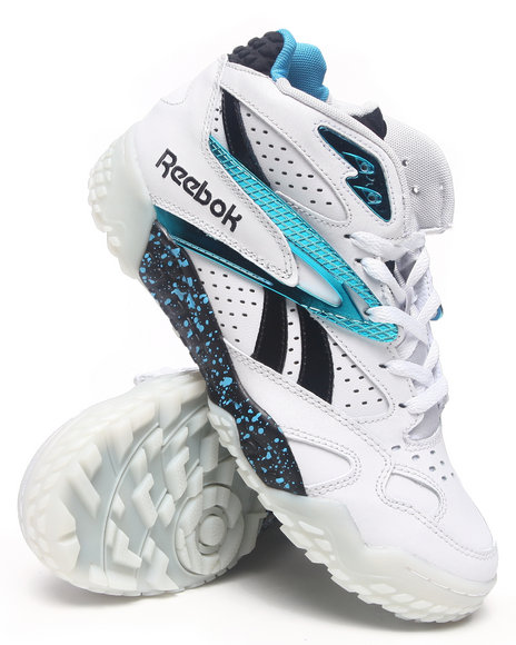 Reebok - Men White Scrimmage Mid Sneakers
