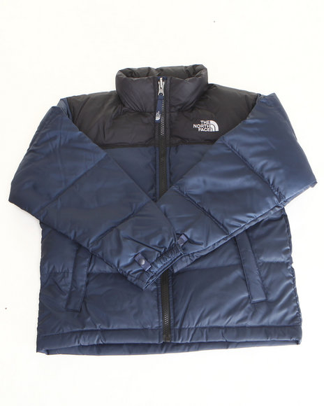 The North Face Boys Navy Nuptse Jacket (8-20)