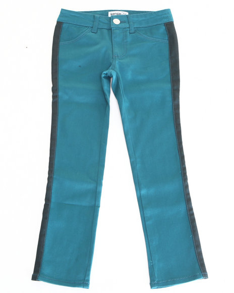 Kensie Girl - Girls Teal Two Tone Skinny Jeans (7-16)