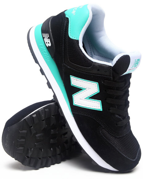 New Balance Black Core Plus 574 Sneakers