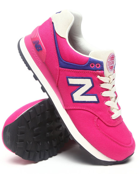 New Balance Pink Rugby 574 Sneakers