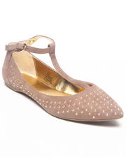 Footwear - Studded Pointed Toe Flat