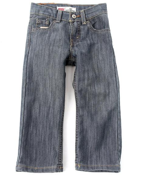 Levi's Boys Light Wash 514 Captain Slim Straight Jeans (2T-4T)