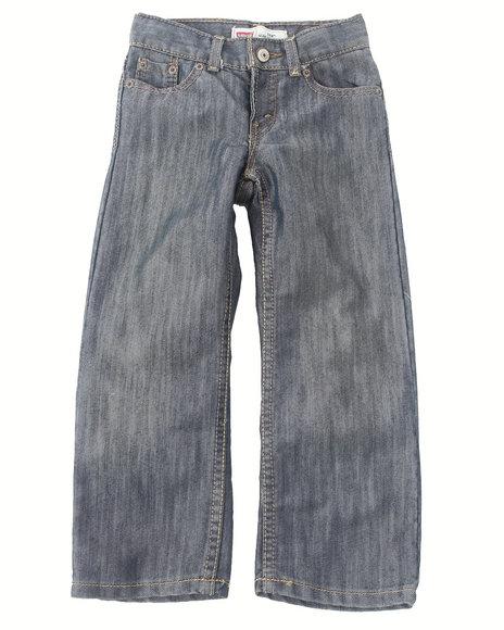 Levi's Boys Light Wash 514 Captain Slim Straight Jeans (4-7X)