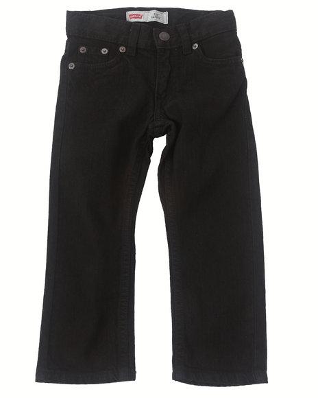 Levi's Boys Black 511 Overdyed Black Skinny Jeans (2T-4T)