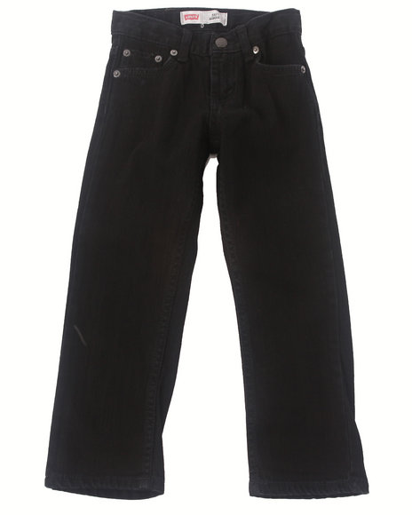 Levi's Boys Black 511 Overdyed Black Skinny Jeans (4-7X)