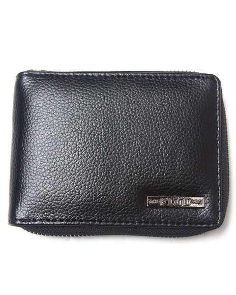 Flud Watches Men Zip Wallet Black 1SZ