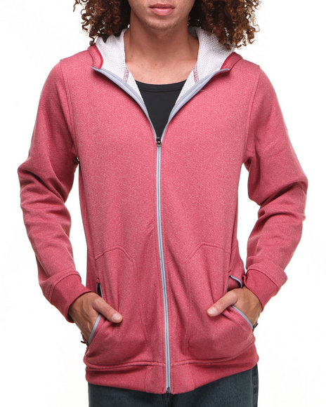 Under Armour - Men Red Coldgear Infrared Tech Fleece Hoody