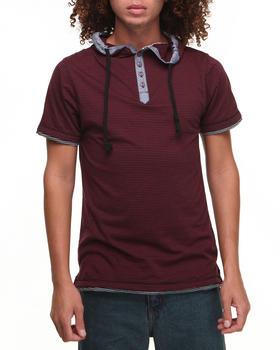 Basic Essentials - Short Sleeve Hooded Henley