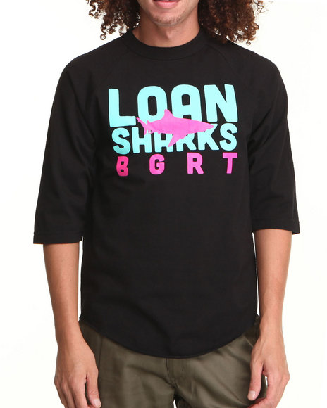 Bgrt - Men Black Loansharks Raglan