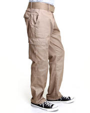 Men - Cargo Pocket Pants with Belt