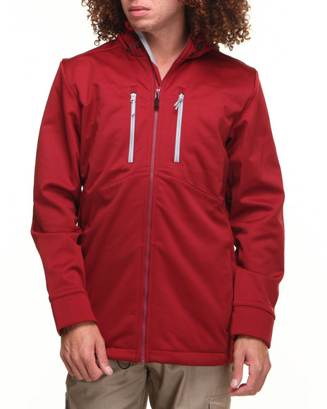 Under Armour - Men Red Coldgear Infrared Softershell Jacket (Water Resistant)
