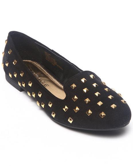 Rampage Black Allover Studded Slip-On Shoe